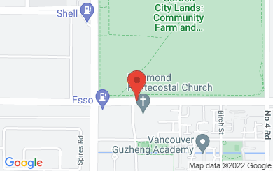 Map to Richmond Pentecostal Church in Richmond, BC
